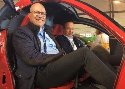 M. Peschke (Versicherung) und Frank Dörner (Rechtsanwalt) fühlen sich sichtlich wohl...